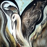 """Caring For The Phoenix : 8"""" x 8"""" : Private Collection"""