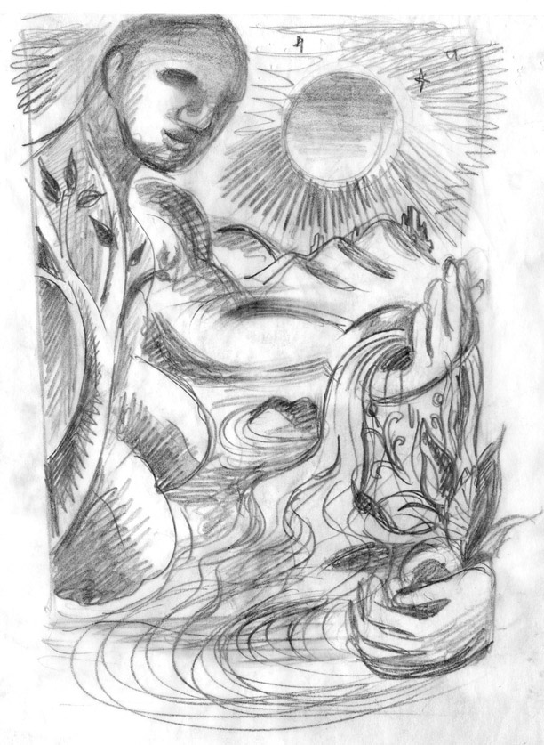 "First study for ""Mother Nature's Son"" Series"